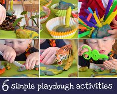 Six Simple Playdough Activities - because simple and easy is always the best!