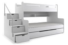 Łóżko piętrowe MAX 3 – 3 osobowe - Łóżka piętrowe trzyosobowe - INTERBEDS - Łóżka dla dzieci