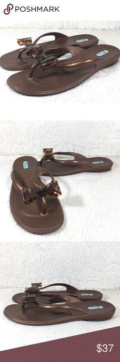 d4e40ea4b80109 Oka B Sandals Jelly Flip Flops Women Size M-L EUC Oka B Sandals Jelly Flip  Flops