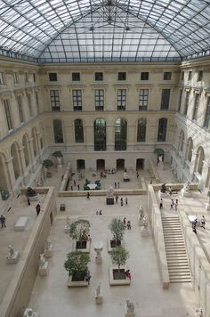 Cour Puget, Musée du Louvre, Paris.  Some of the statues in this section are gigantic!  I love this museum!