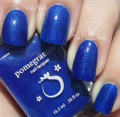 Pomegranate Nail Lacquer Blue Screen of Death: (from: The PolishAholic)