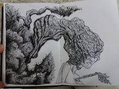 Dot Work, Blackwork, Drawings, Sketches, Art, Pointillism, Dibujo, Art Background, Kunst