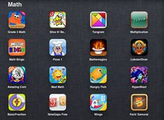 Comprehensive list of great MATH apps.