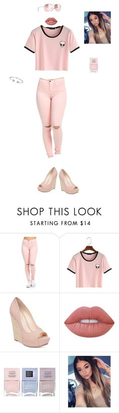 """Light Pink Alien"" by fabulousgirls101 on Polyvore featuring Jessica Simpson, Chanel, Lime Crime, Nails Inc. and Bling Jewelry"