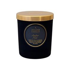 Shearers Amber Noir Scented Jar Candle with Gold Lid 30 Hour Burn