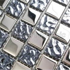 [Mius Art Mosaic] Mirror Silver electroplate crystal mosaic tile 23x23mmfor kitchen backsplash A4S004(China (Mainland))