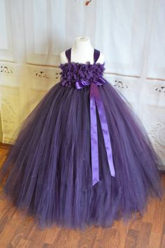 Sugar Plum Flower girl tutu dress by TutuSweetBoutiqueINC on Etsy, $55.00
