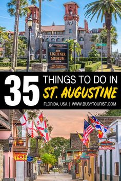Not sure what to do in St. Augustine, FL? This travel guide will show you the best attractions, activities, places to visit & fun things to do in St. Augustine, Florida. Start planning your itinerary & bucket list now! #StAugustine #SaintAugustine #florida #floridavacation #floridatravel #floridatrip #usatravel #usaroadtrip #usatrip #travelusa #ustravel #ustraveldestinations #americatravel #travelamerica #vacationusa Florida City, Florida Vacation, Florida Travel, Florida Trips, Travel Goals, Travel Usa, Canada Travel, Cool Places To Visit, Places To Go
