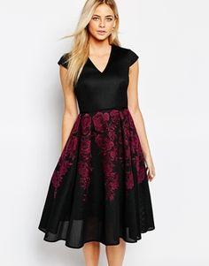 Ted Baker Levana Bonded Lace Full Skirt Dress