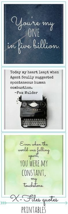 8 FREE X-Files quotes printables / valentines + How to make a printable in Canva | These are a great way to incorporate your love for the X-Files into your home decor without plastering flying saucers on everything. Hang these up on a gallery wall, frame them and put them on your coffee table, or give them away as valentines.