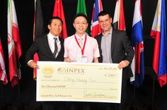 InventHelp's INPEX 2014 - AWARD WINNER: Ching Hsiang Hsu  -- www.InventHelp.com -- www.INPEX.com -- #Invent #Help #Invention #Innovation #InventHelp #Award #Winner #Check