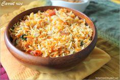 Hot pot cooking: Carrot Rice