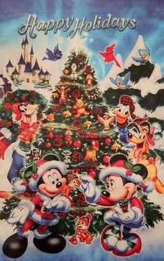 Christmas - Disney - Mickey & Minnie Mouse & Friends Disney Merry Christmas, Mickey Mouse Christmas, Mickey Mouse And Friends, Christmas Themes, Holiday Ideas, Minnie Mouse, Christmas Cards, Disney Cards, Disney Love