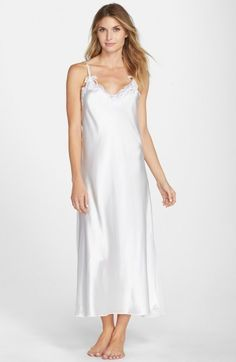 Oscar de La Renta Tying the Knot Nightgown via Nordstrom - A classic silhouette in an easy to care for fabric so you'll wear it often.