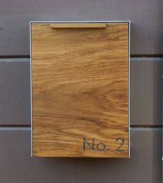 Modern Mailbox Narrow Teak Wall Mounted Mailbox By CeCeWorks