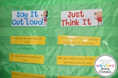 Honesty Sort; Say It Outloud, Just Think It; Helping Students Figure Out What Needs To Be Said