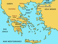 La Filosofía surge en en los siglos IV - V a.n.e en las regiones de la Grecia Peninsular - Insular, Asia Menor.