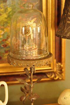 antique easter decoration under dome
