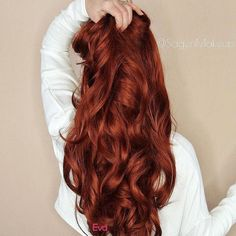 Best And Amazing Red Hair Color And Styles To Create This Summer; Red Hair Color And Style; Giner And Red Hair Color; How To Curl Short Hair, Long Curly Hair, Curly Hair Styles, Long Red Hair, Brown To Red Hair, Burgundy Hair, Red Colored Hair, Eva Hair, Red Curls