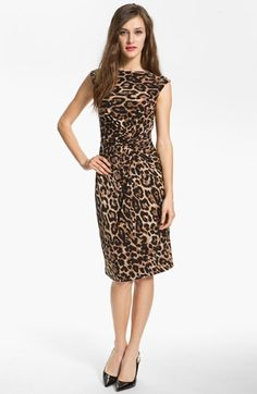 Chaus Knot Waist Leopard Print Dress available at #Nordstrom