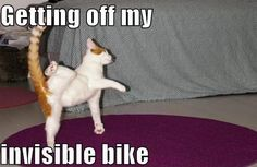 Getting of my.... Invisible bike!