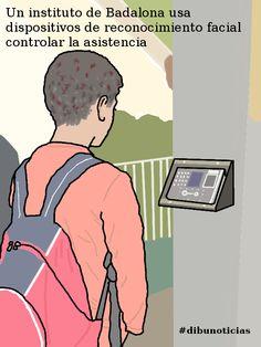 Un instituto de Badalona usa dispositivos de reconocimiento facial controlar la asistencia  #dibunoticias