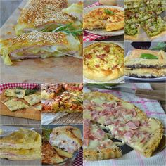 Torte salate raccolta di ricette facili e veloci One Pot Meals, No Cook Meals, Easy Meals, Pastry Recipes, Cooking Recipes, Healthy Recipes, Strudel, Quiches, Crostini