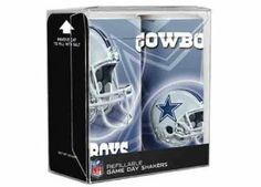 Dallas Cowboys Refillable Salt And Pepper Shaker (24 Pack) by DDI. $296.34. Dallas Cowboys Refillable Salt and Pepper Shakers Wholesale, Boasts both the team name and logo on each shaker, refillable and reuseable,ideal for everyday use or for that big game party, NFL Licensed. Save 57%!