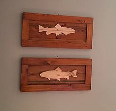 Custom Man Cave ~ Fisherman's Gift ~ Angler's Trophy ~ Grandpa's Birthday Catch ~ Custom Salmon Silhouette ~ Father's Day Best Dad Ever! Fish Wood Carving, Grandpa Birthday Gifts, Fish Artwork, Cool Woodworking Projects, Wood Projects, Woodworking Tools, Fish Silhouette, Wood Fish, Fisherman Gifts