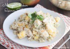 Mango Chicken Quinoa Salad {Hello Summer} I Heart Nap Time | I Heart Nap Time - Easy recipes, DIY crafts, Homemaking