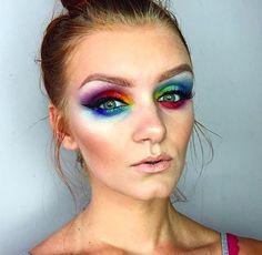 Rainbow Pride Makeup Look