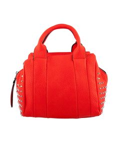 Shop Prima Donna - Azevedo Studded Satchel Coral