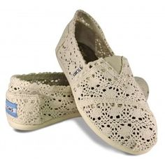 Okay, I don't really like the Tom's shoe but this lace one I'm kind of digging. These, and the wedges.