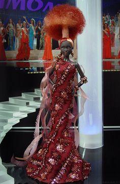 OOAK Barbie NiniMomo's Miss Democratic Republic of Congo 2011