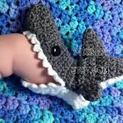 Crocheted Shark Slipper Socks - via @Craftsy Nope won't make these, but had to pin them.