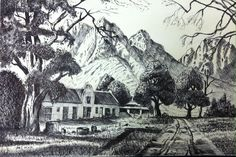Pen and ink. Dale Tyndall. June 2014