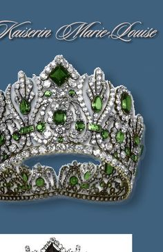 The Emeralds of Marie-Louise Empress of France.  Empress Marie-Louise (1791-1847), the second wife of Napoleon.