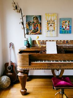 A room full of art and music