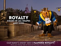 Repin if you deserve the royal treatment! To discover your #DisneySide, visit: http://www.americantourister.com/disneyside/