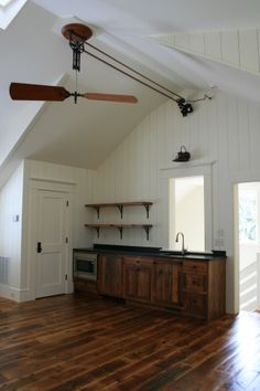 Beautiful Guest Suite Over Garage, Pulley Fan · Belt Driven Ceiling ...