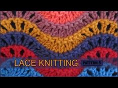 Old Shale   Lace Knitting Pattern #5 - YouTube