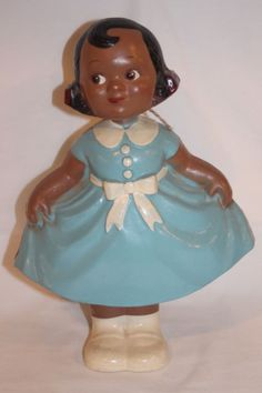 Bobbi Mae Swing and Sway doll - Feet and legs are a separate piece, so the doll's whole body moves like a bobblehead would, letting her sway and curtsey. Popular in the 1930's