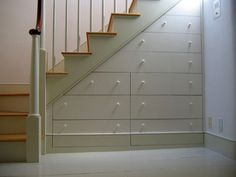 Great Ideas For Storage Under Stairs!