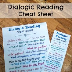 Tips for Having a Reading Conversation Link: http://researchparent.com/dialogic-reading-cheat-sheet/