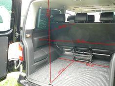   VW T5 Caravelle (wersja długa), wymiary bagażnika