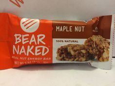 Crazy Food Dude Review: Bear Naked Maple Nut Real Nut Energy Bar