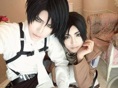 Attack on titan cosplay - Levi and Eren !!!!!!!!!!!!!!!!!!!!!!!