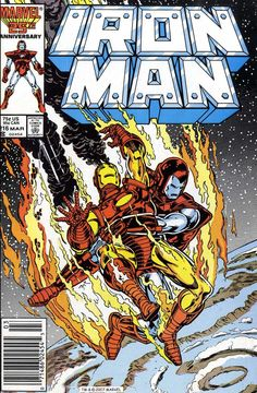 Iron Man 216 March 1987 Issue Marvel Comics Grade by ViewObscura Marvel Comics Superheroes, Hq Marvel, Marvel Comic Books, Comic Book Characters, Comic Character, Comic Books Art, Book Art, Marvel Heroes, Alex Ross