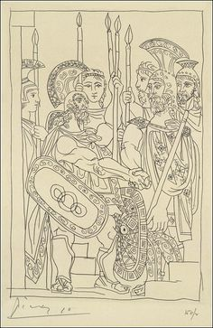 Aristophanes' Lysistrata. Illustrated by Pablo Picasso. - Book Graphics 1934
