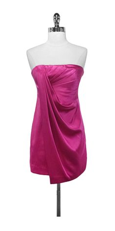 BCBG Strapless Draped Dress